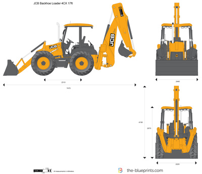 JCB 4CX 17ft Backhoe Loader