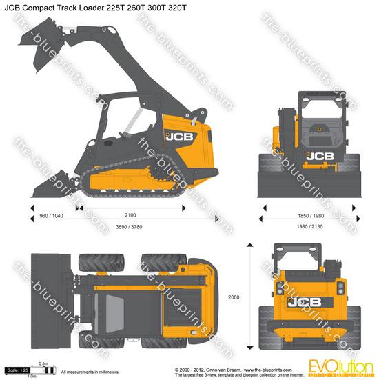JCB 225T 260T 300T 320T Compact Track Loader