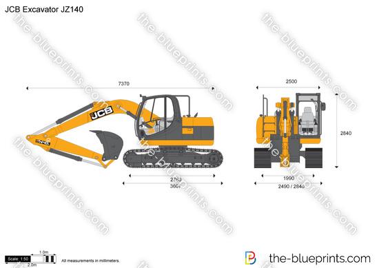 JCB JZ140 Excavator