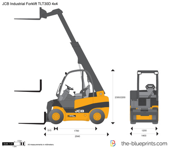 JCB TLT30D 4x4 Industrial Forklift