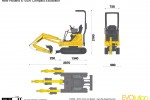 New Holland E10SR Compact Excavator