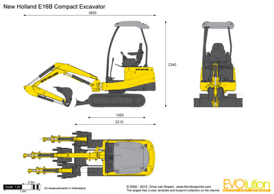 New Holland E16B Compact Excavator