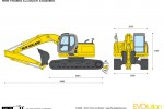 New Holland E235BSR Excavator