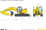 New Holland E235BSR Triple Articulation Excavator