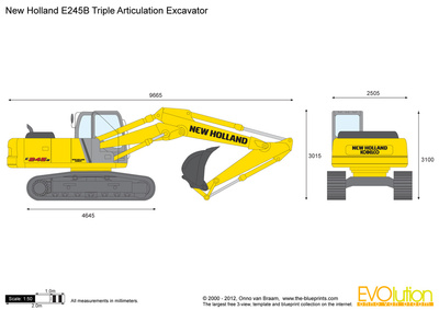 New Holland E245B Triple Articulation Excavator