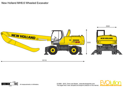 New Holland MH6.6 Wheeled Excavator