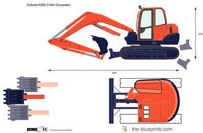 Kubota K080-3 Mini Excavator