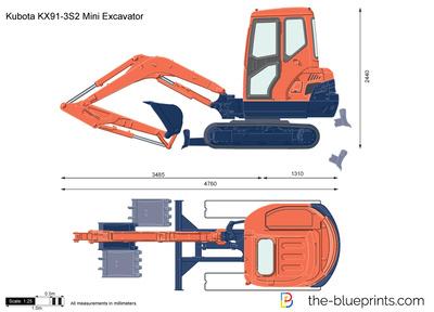 Kubota KX91-3S2 Mini Excavator