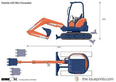Kubota U25 Mini Excavator