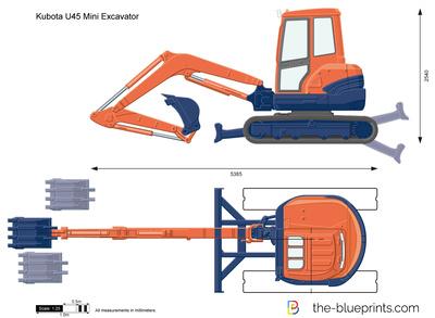 Kubota U45 Mini Excavator