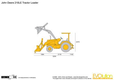 John Deere 210LE Tractor Loader