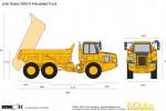 John Deere 300D-II Articulated Truck