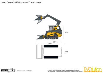John Deere 333D Compact Track Loader