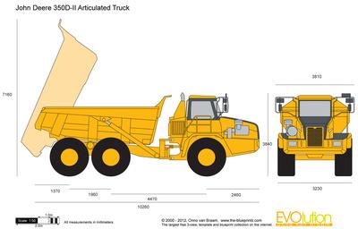 John Deere 350D-II Articulated Truck