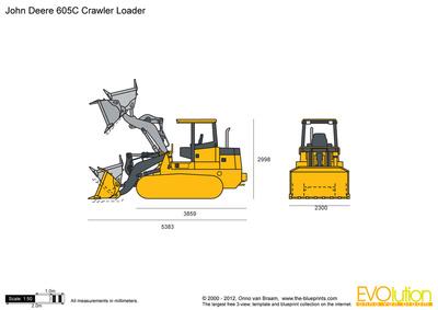 John Deere 605C Crawler Loader