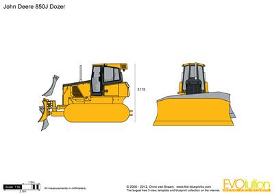 John Deere 850J Dozer