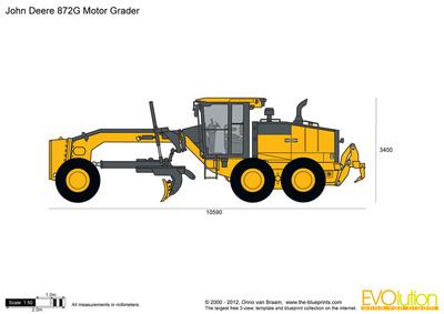 John Deere 872G Motor Grader