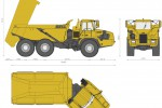 Bell Hitachi B40D Articulated Dump Truck