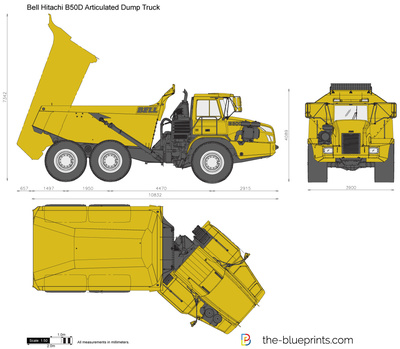 Bell Hitachi B50D Articulated Dump Truck
