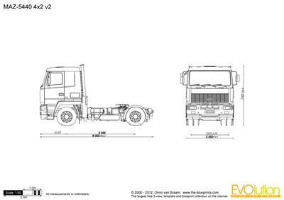 MAZ-5440 4x2 v2