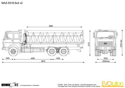 MAZ-5516 6x4 v2