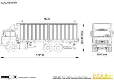 MAZ-5516 6x4