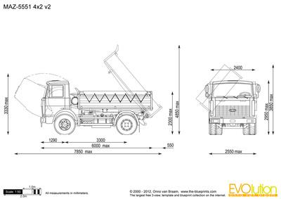 MAZ-5551 4x2 v2