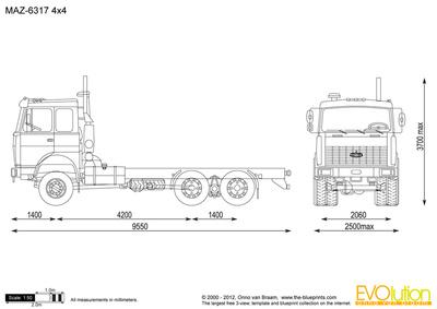 MAZ-6317 4x4
