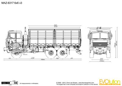 MAZ-6317 6x6 v3