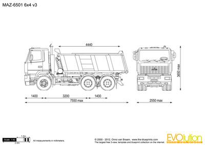 MAZ-6501 6x4 v3