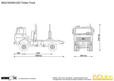 MAZ-543403-220 Timber Truck