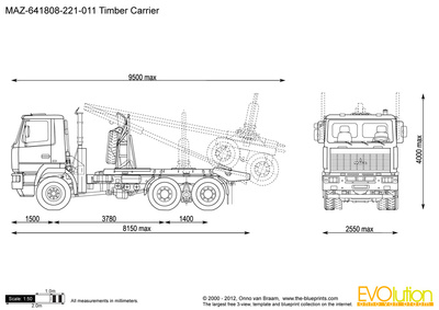 MAZ-641808-221-011 Timber Carrier