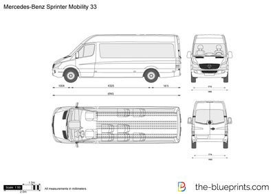 Mercedes Benz Sprinter Mobility 33 Vector Drawing