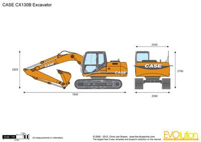 CASE CX130B Excavator