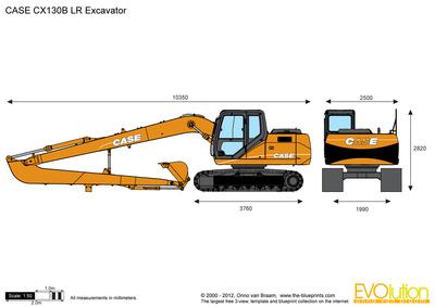 CASE CX130B LR Excavator