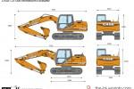 CASE CX130B Monoboom Excavator