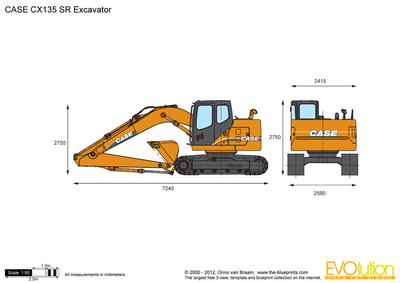 CASE CX135 SR Excavator