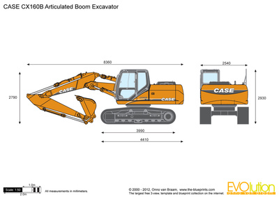 CASE CX160B Articulated Boom Excavator