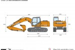 CASE CX160B Monoboom Excavator