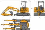 CASE CX50B ZTS Mini Excavator