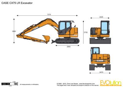 CASE CX75 LR Excavator