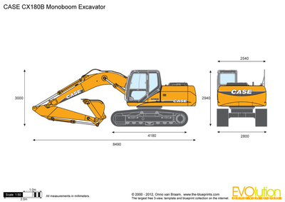CASE CX180B Monoboom Excavator