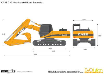 CASE CX210 Articulated Boom Excavator