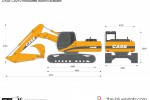 CASE CX210 Articulated Boom Excavator