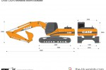 CASE CX210 Monobloc Boom Excavator