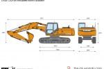 CASE CX210B Articulated Boom Excavator