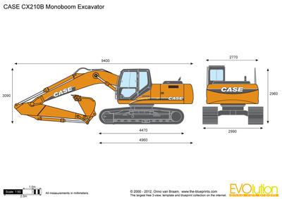 CASE CX210B Monoboom Excavator
