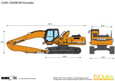 CASE CX240B MH Excavator