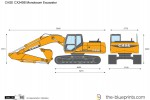 CASE CX240B Monoboom Excavator