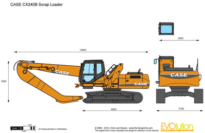 CASE CX240B Scrap Loader